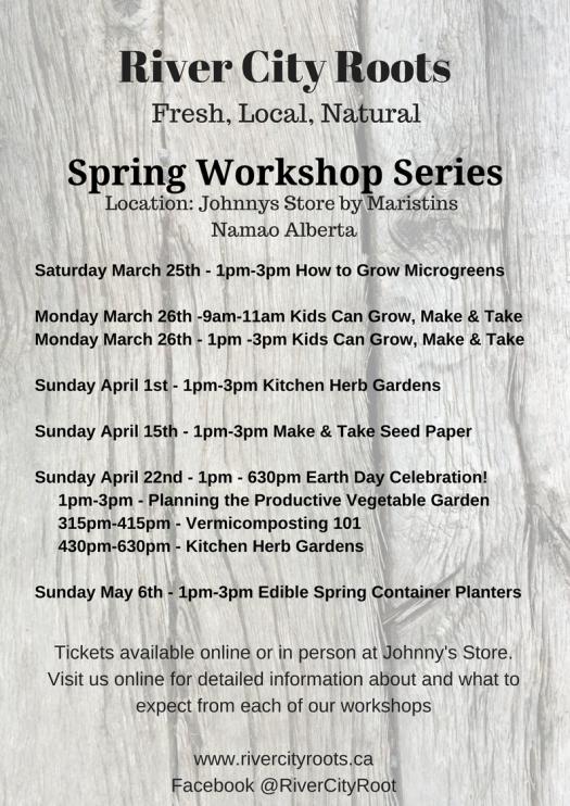 Spring Workshops Poster